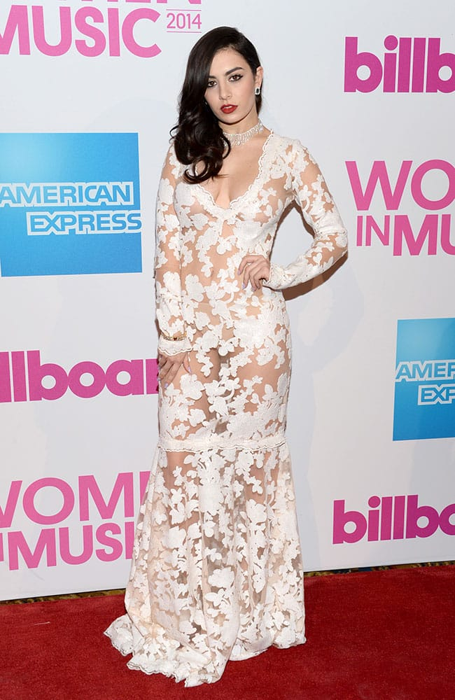 Charli XCX attends the 2014 Billboard Women in Music luncheon at Cipriani Wall Street, in New York.