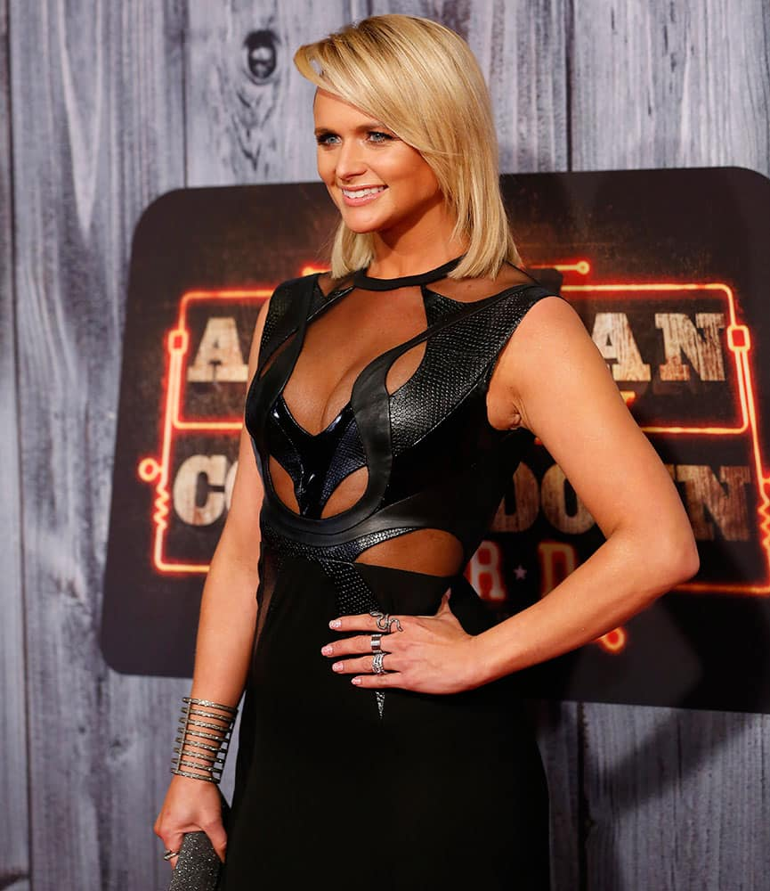 Country Artist Miranda Lambert poses at the 2014 American Country Countdown Awards Red Carpet at the Music City Center in Nashville, Tenn.