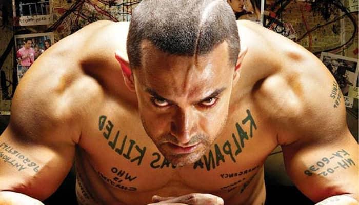 A ferocious Aamir Khan in 'Ghajini'.