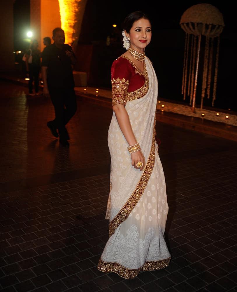 Urmila Matondkar during Riddhi Malhotra and Tejas Talwalkar marriage reception in Mumbai.- dna