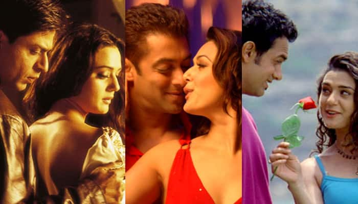 The Khans with the bubbly Preity Zinta.