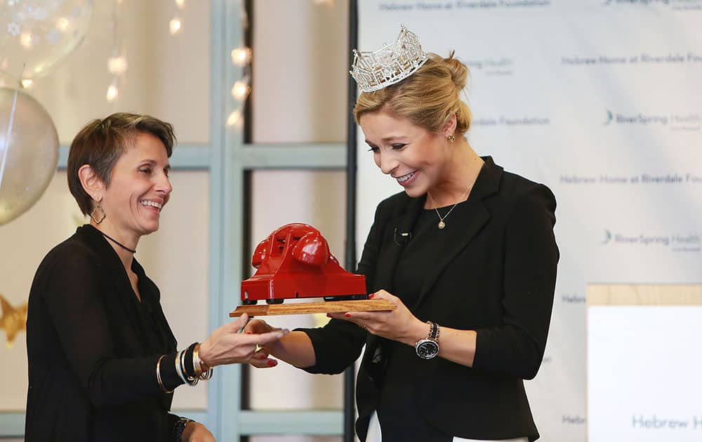 Miss America 2015, Kira Kazentsev, receives the first annual