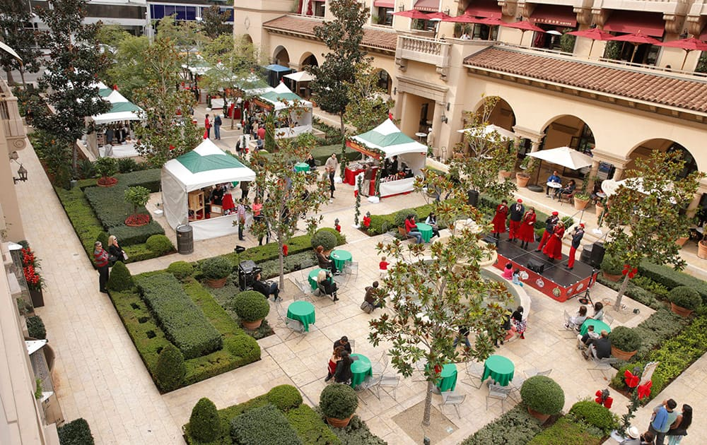 A Rooftop view of The Beverly Hills Holiday Bazaar.