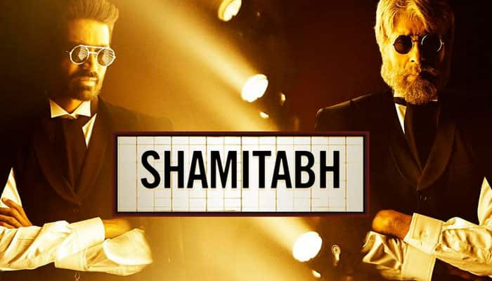 Check out: Amitabh Bachchan, Dhanush freeze frame in new 'Shamitabh' poster'!