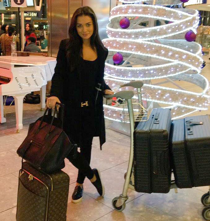 Amy Jackson :- India here I come -twitter