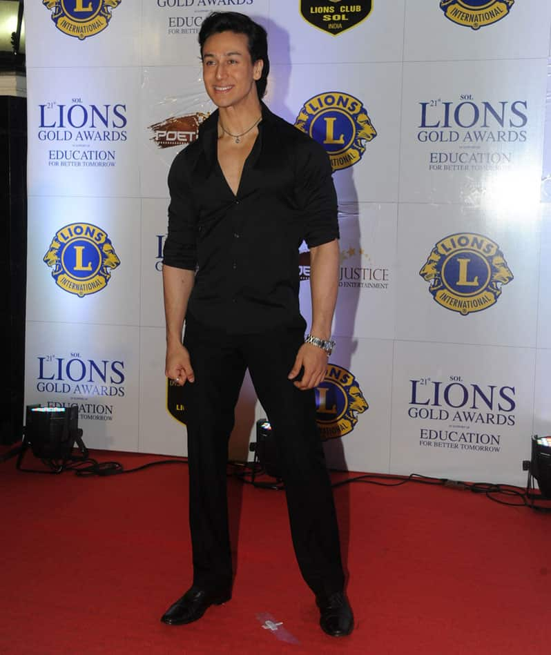 Tiger Shroff during the Lions Gold Awards 2015 in Mumbai. -dna