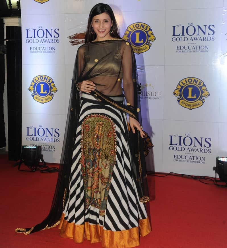 Manara Chopra during the Lions Gold Awards 2015 in Mumbai. -dna