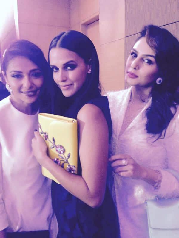 @kalyanisaha: my two favourites in #Dior @humasqureshi @NehaDhupia... happy happiest new year to you two❤️U2 ! - Pic Courtesy:Twitter@NehaDhupia