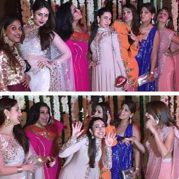 @KarismaKapoor  #kareenakapoorkhan #saifalikhan #malaikaarorakhan and @amuarora at wedding friend,so much fun - Pic Courtesy:Twitter