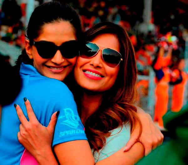 Some candid pics from #CCL opening ceremony @bipsluvurself @sonamakapoor  -twitter