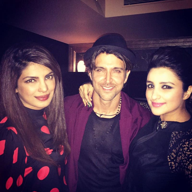 Parineeti Chopra :- What a happyy party last night!! @iHrithik is one of the sweetest people and hosts :) -twitter