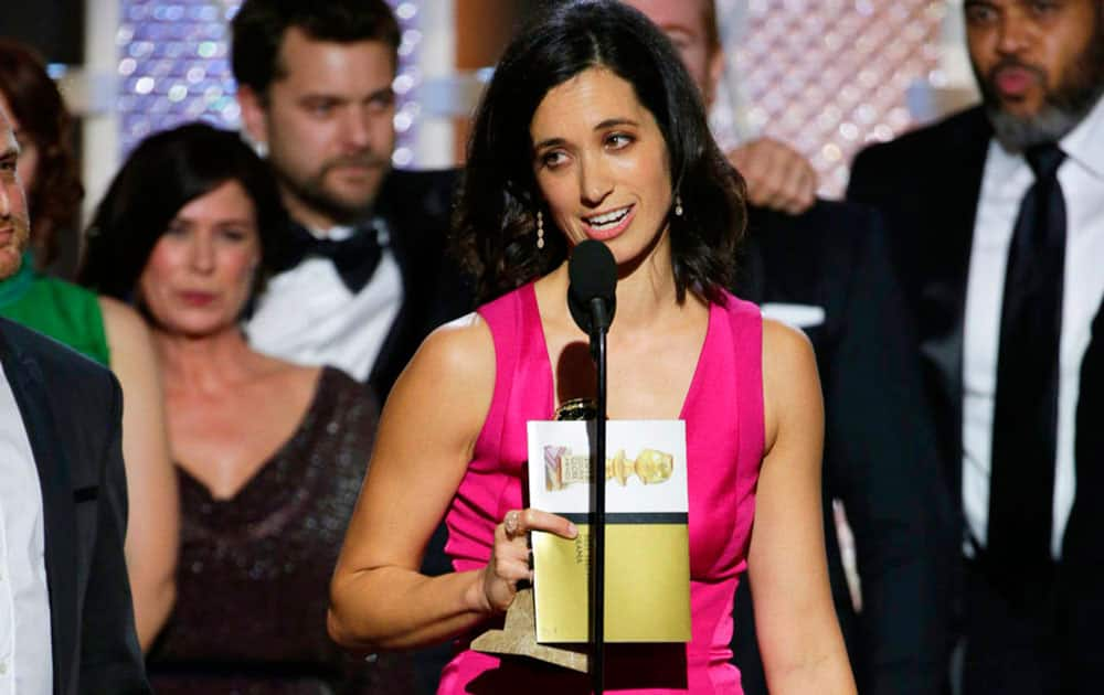 Sarah Treem accepts the award for best TV drama series for