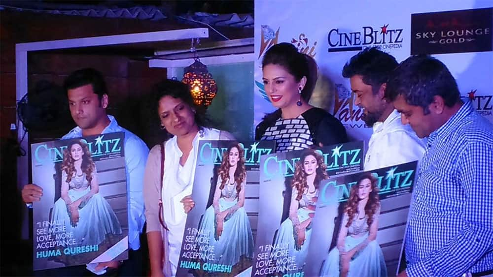 humas qureshi at #CineBlitz magazine launch. -twitter
