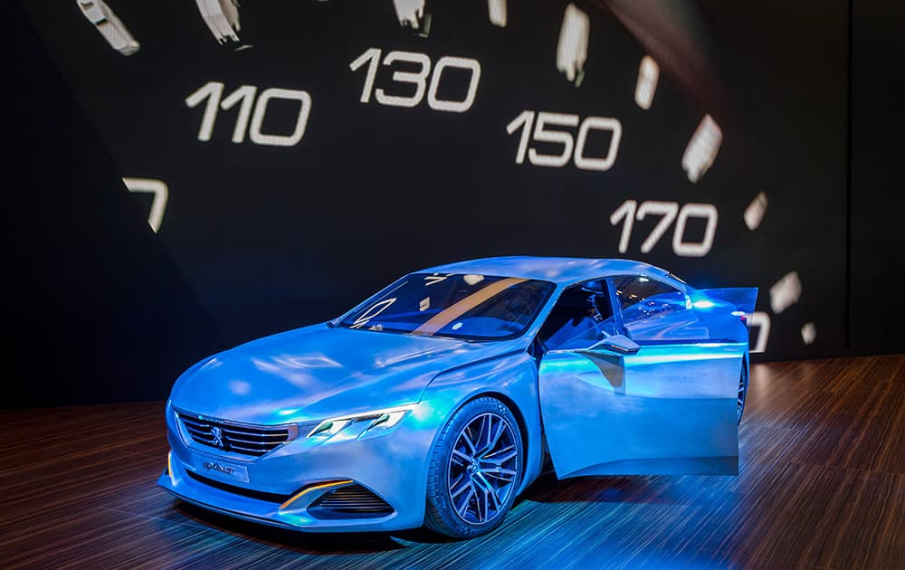 The Peugeot Exalt concept car on display during the media day of the 93rd European Motor Show in Brussels.