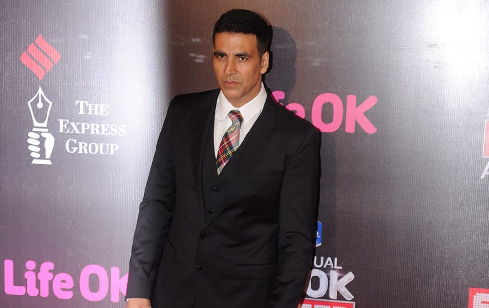 Bollywood actor Akshay Kumar during the 21st Annual Screen Awards in Mumbai.-dna