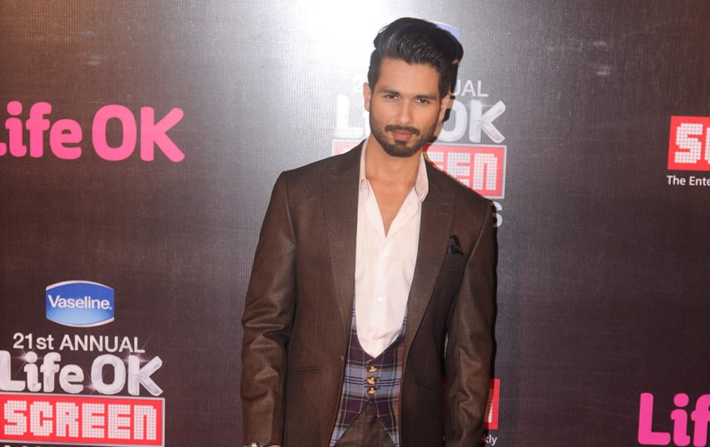 Shahid Kapur during the 21st Annual Screen Awards in Mumbai.-dna