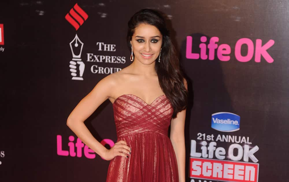 Shraddha Kapoor during the 21st Annual Screen Awards in Mumbai.-dna