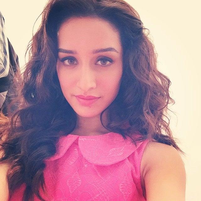Pink is the new black #AdShoot - instagram @kapoorshraddha