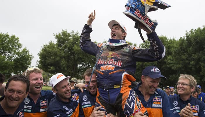 Spain`s Marc Coma retains Dakar Rally motorbike title