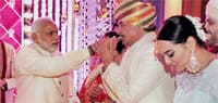 PM Modi attends Shatrughan Sinha's son's wedding in Mumbai