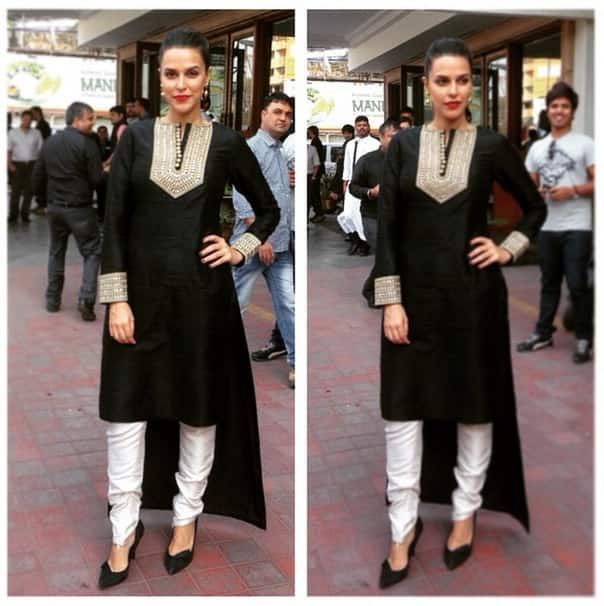 nehadhupia :- #picstitch in @payalsinghal for #aarya24kt @kaivshah - Instagram