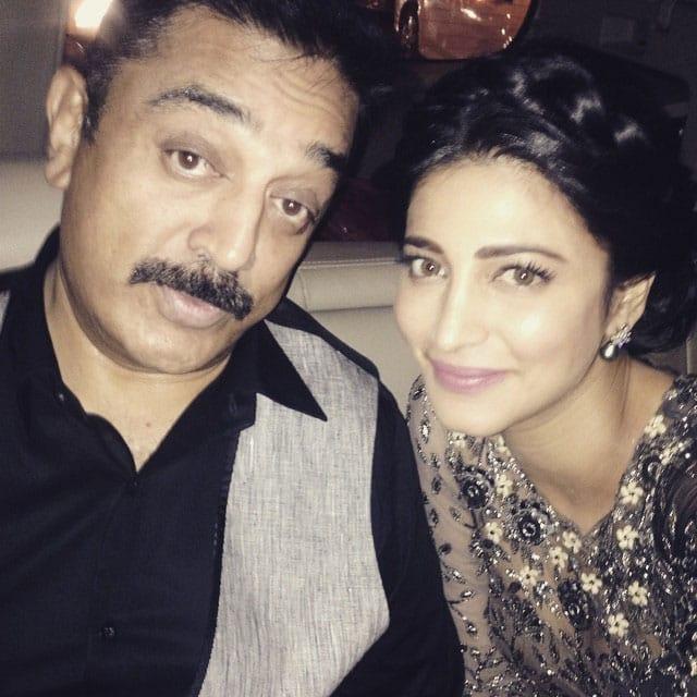 With daddy dearest in Mumbai !!! - instagram@shrutzhaasan