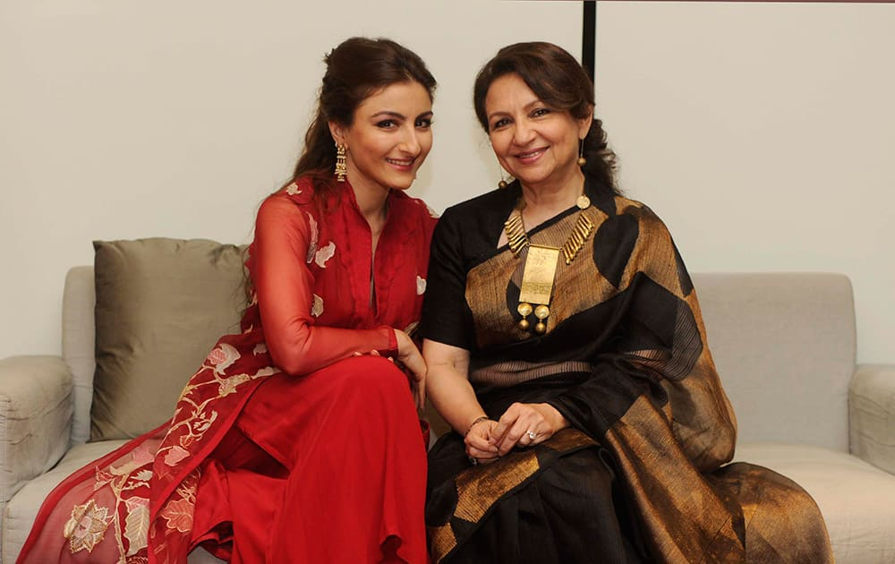 Soha Ali Khan, Sharmila Tagore shot exclusively for dna Afterhrs in Mumbai. DNA