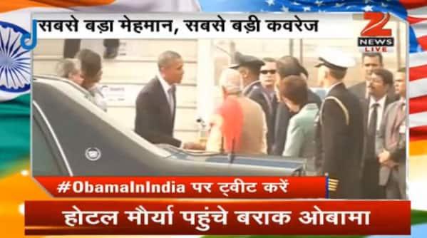 PM Narendra Modi welcomes Barack Obama