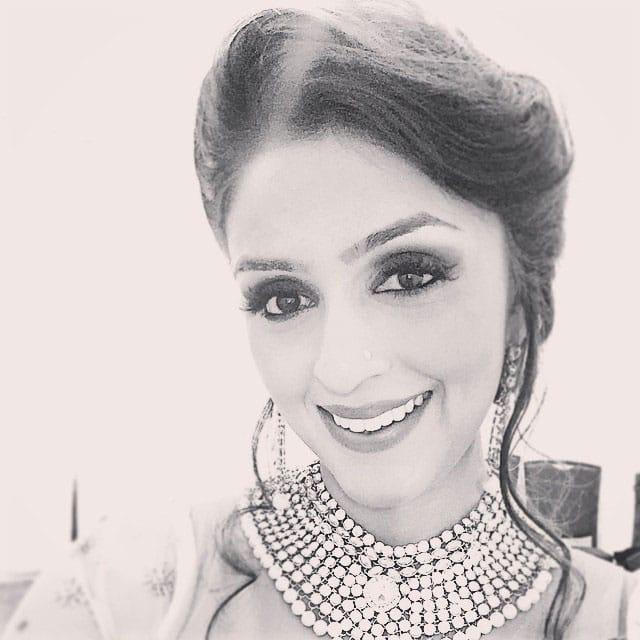 aarti chabria :- #blackandwhite #antique #perioddrama #look #indian #updo #smokyeyes #greenroom #selfie -instagram