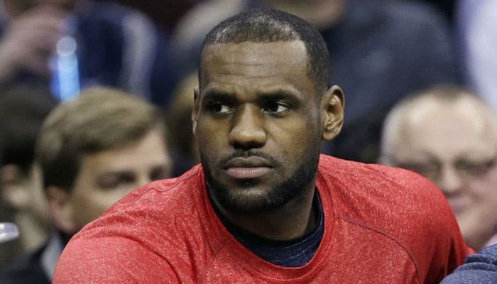 LeBron James out with wrist injury