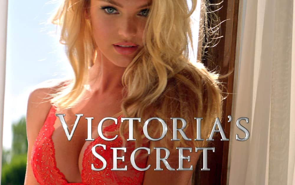 This image provided by Victoria's Secret shows a portion of the company's television ad scheduled to run during Super Bowl XLIX on Sunday, Feb. 1, 2015.