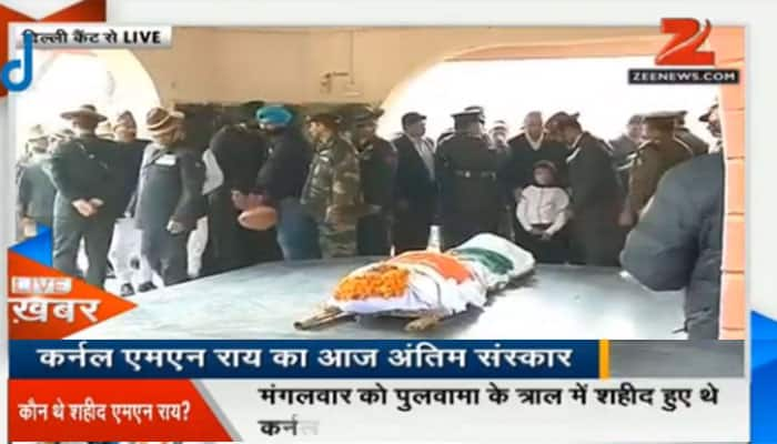 Tributes paid to Colonel MN Rai martyred in Kashmir gunfight
