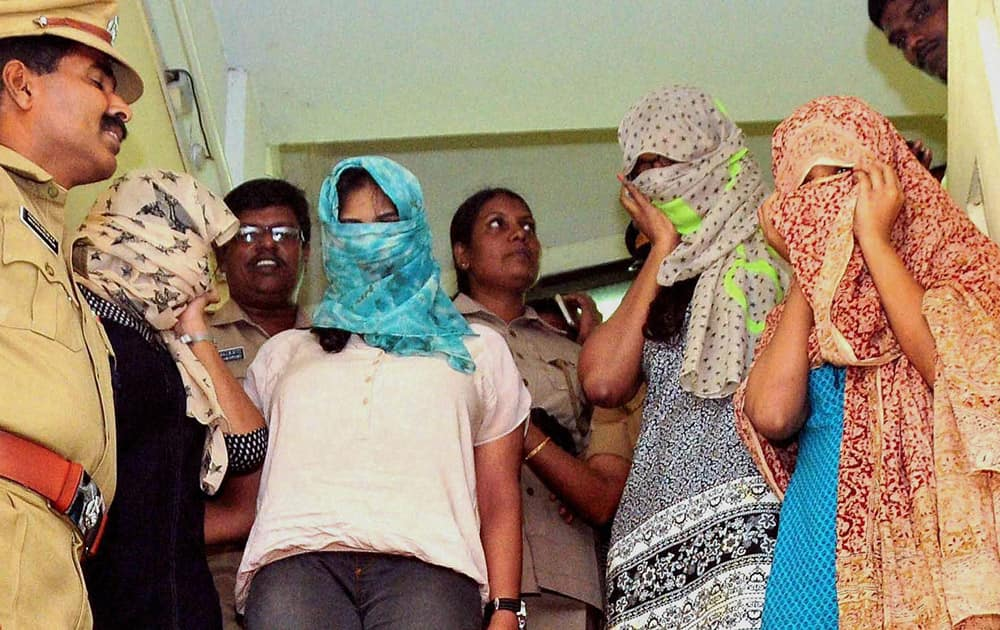 Three models including one assistant director was arrested allegedly possessing narcotics by Kerala police in Kochi.