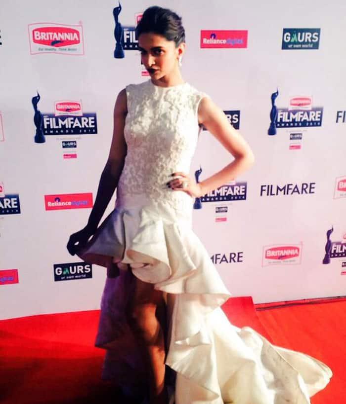 Filmfare -:  Deepika Padukone was a vision in white. -twitter