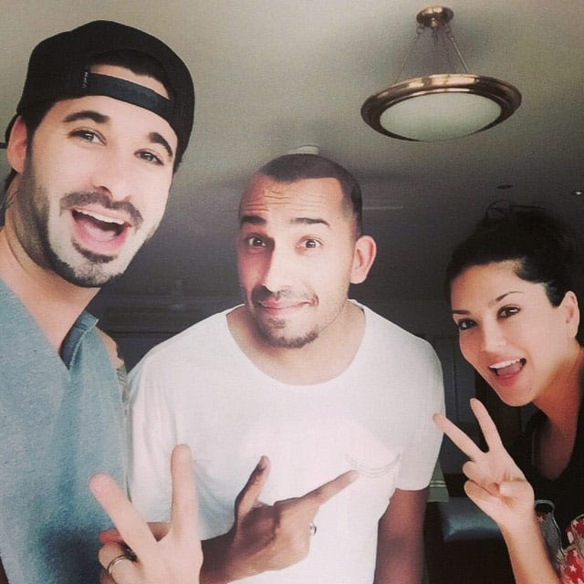 Yay!! He's out of the house finally!! @dirrty99 @aliqulimirza - instagram @sunnyleone