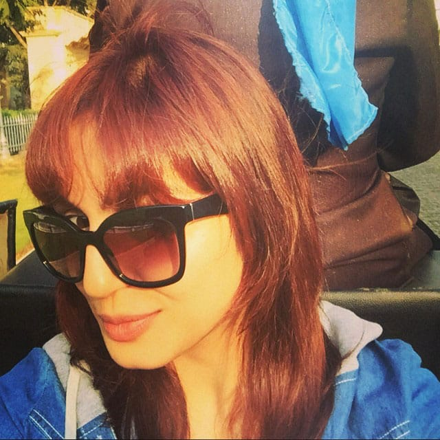 Huma Qureshi ‏:- In my own horse drawn carriage  .. Can't see the horses here tho #goodtimes -instagram
