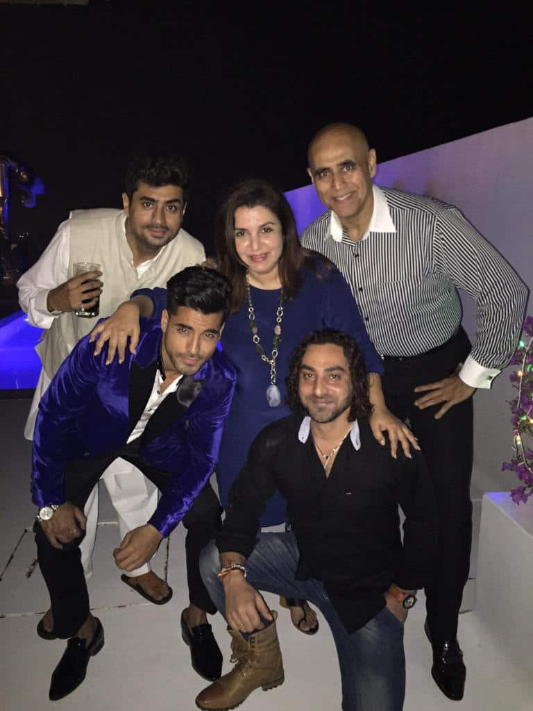 Farah Khan : The p3G gang !! On my terrace at the Bigg boss HALLABol party!!  - twitter