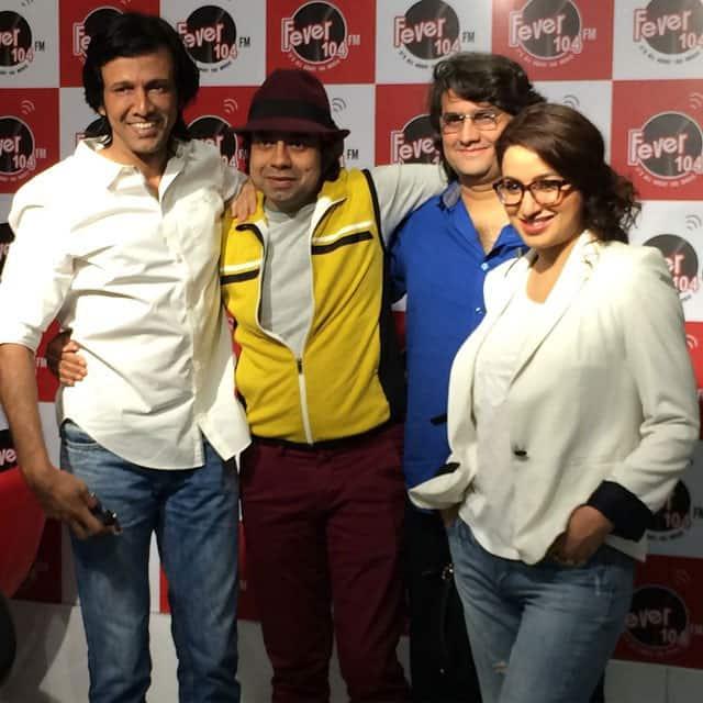 At Oye FM with #KayKayMenon #ManishGupta & Anurag Pandey for @SolveTheRahasya promotions - instagram @tiscatime
