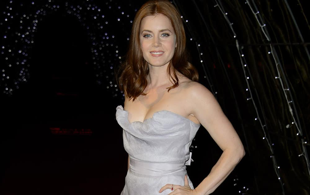actress Amy Adams arrives for the British Academy Television Awards 2015 Nominees Party at Kensington Palace in central London.