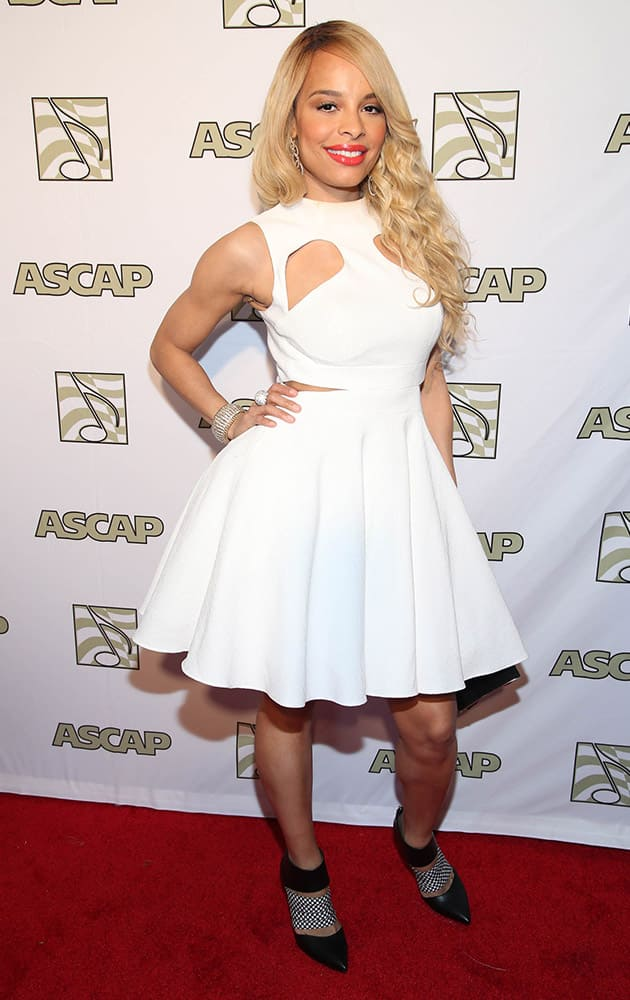 Antonique Smith attends the ASCAP Presents The 2015 Grammy Nominees Brunch at the SLS Hotel Beverly Hills in Beverly Hills, Calif.