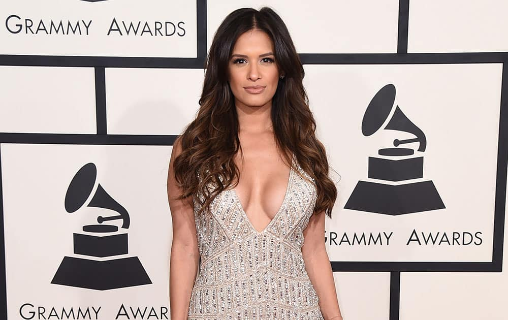 Rocsi Diaz arrives at the 57th annual Grammy Awards