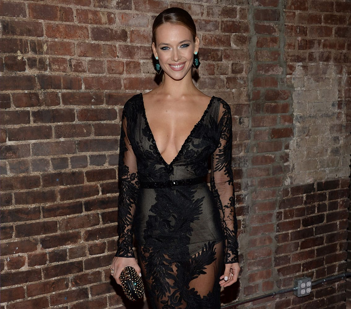 Hannah Ferguson attends Sports Illustrated's Swimsuit Issue 2015 Celebration at Marquee.