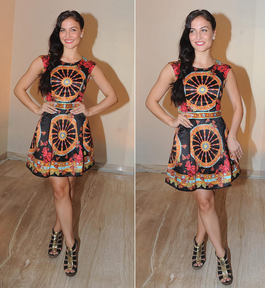 Elli Avram during the preview of diamond jewellery by Zoya- exquisite diamonds from the house of Tata, in Mumbai. DNA