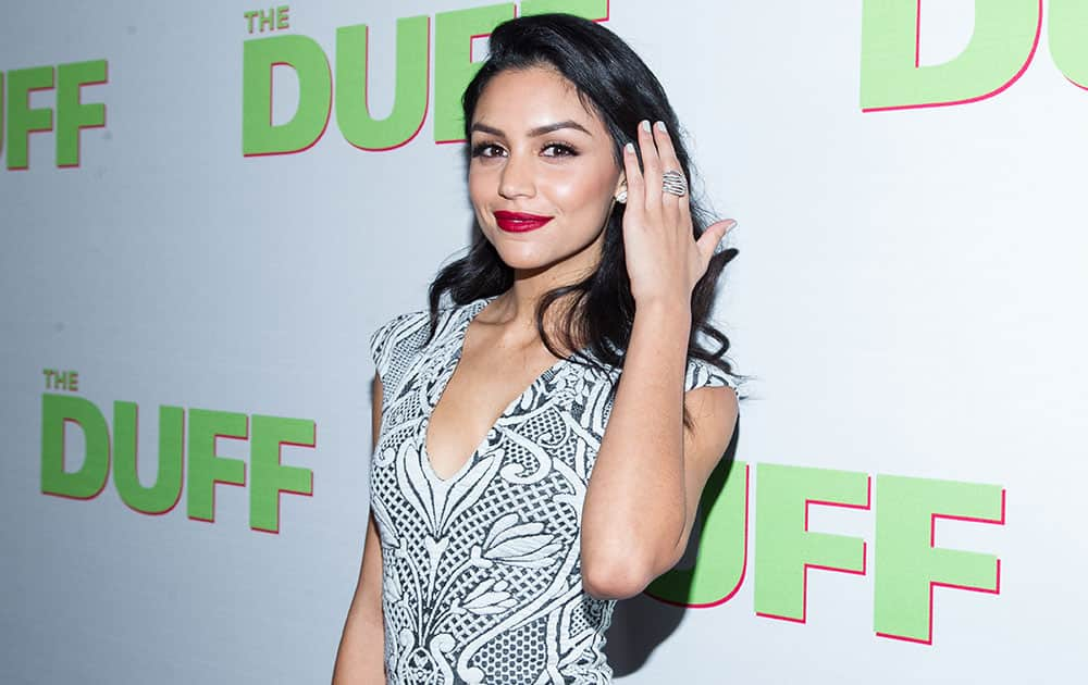 Bianca Santos arrives at the Los Angeles Fan Screening of