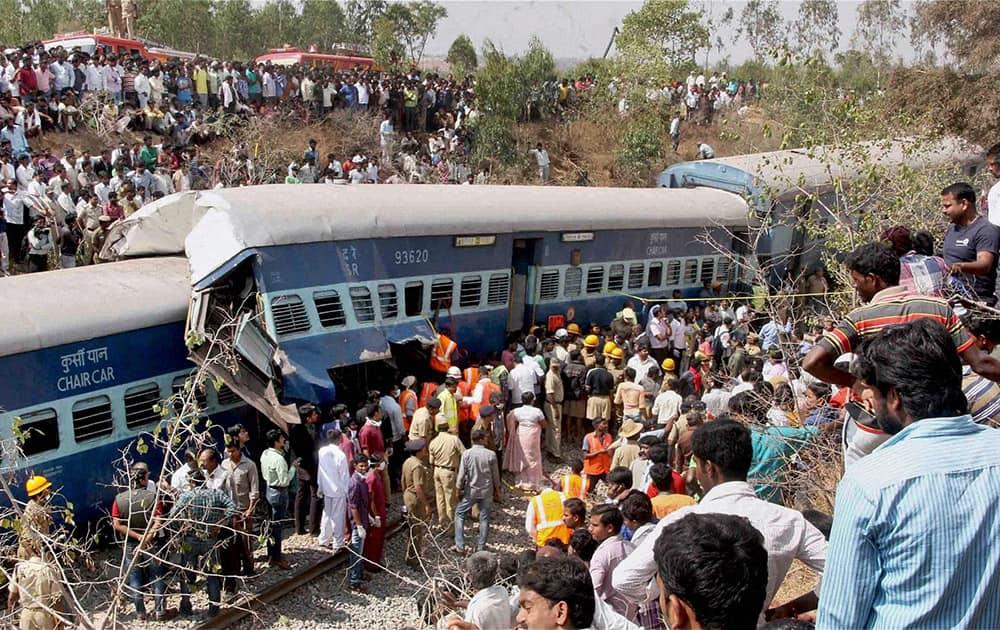 Rescue work in progress after Bangalore -Ernakulam train derailed near Anekal in Bengaluru.