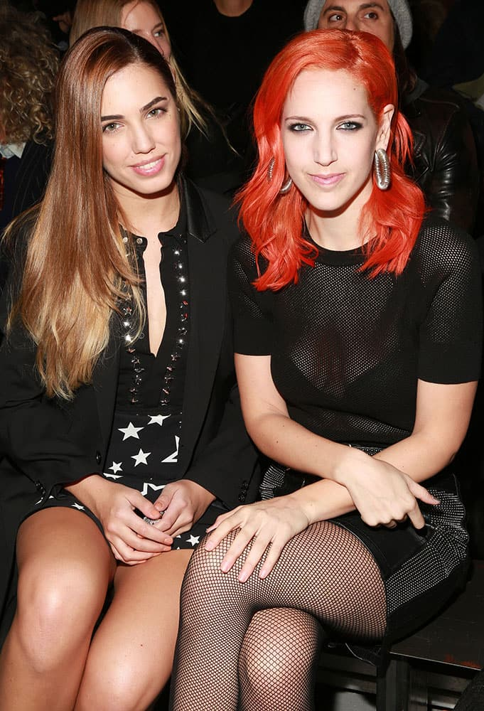 Amber Le Bon and Lizzy Plapinger attends the Diesel Black Gold fashion show in New York.