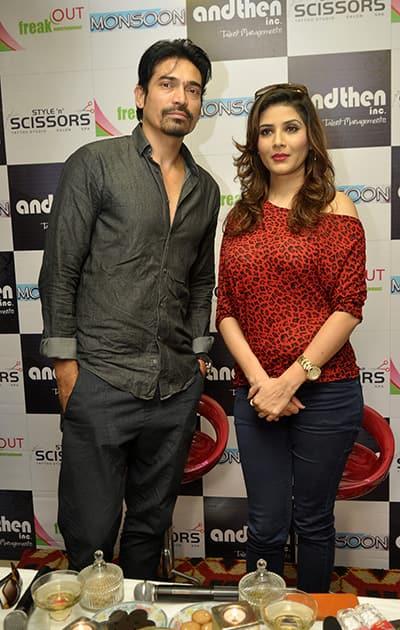 Shawar Ali and Shrishti Sharma at the press meet.- DNA