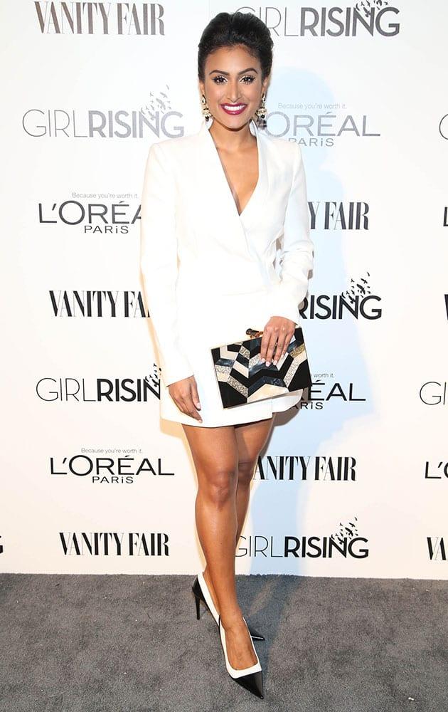Nina Davuluri attends the Vanity Fair And L'oreal Paris DJ Night at 1Oak on Friday.