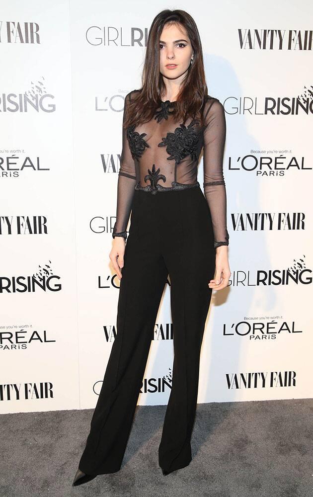 Doina Ciobanu attends the Vanity Fair And L'oreal Paris DJ Night at 1Oak on Friday.
