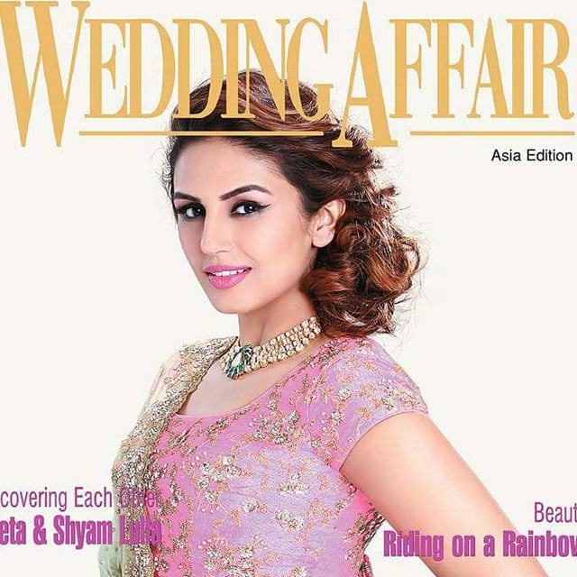 Huma Qureshi :- All u goin to be brides, check out this month's wedding affair mag for the latest styling tips.  -instagram